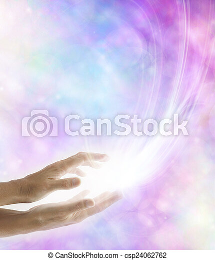 lavoratore, luce, irradiare, reiki, guarigione - csp24062762
