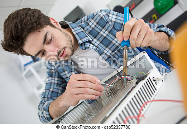 lavoratore, metallo, giovane, saldatura - csp52337780