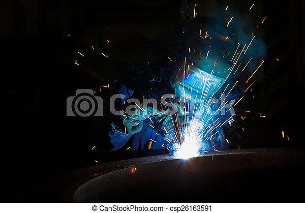 lavoratore, saldatura, saldatore - csp26163591