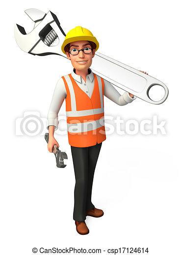 lavoratore, strappare - csp17124614