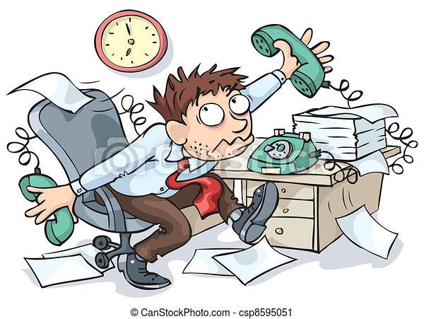 lavoratore, ufficio - csp8595051