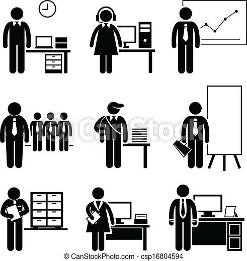 lavori, ufficio, carriere, occupazioni - csp16804594