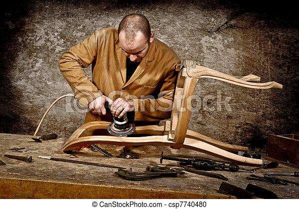 lavoro, carpentiere - csp7740480