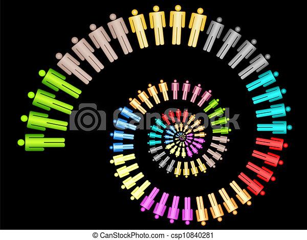 lavoro, concetto, colorito, squadra affari - csp10840281