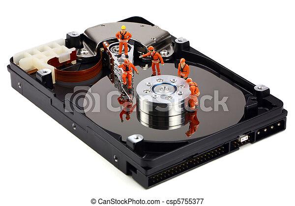 lavoro, miniatura, duro guida, tecnici - csp5755377
