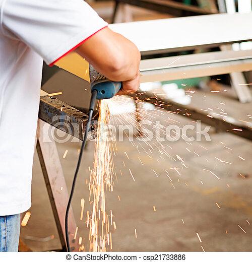 lavoro, saldatore - csp21733886