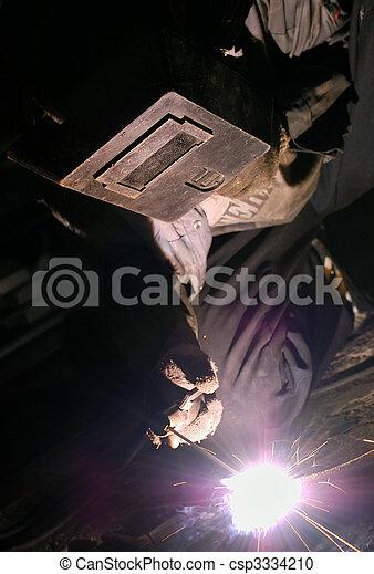 lavoro, saldatura - csp3334210