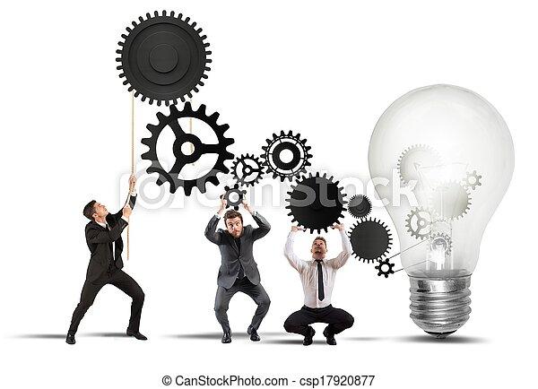 lavoro squadra, idea, alimentare - csp17920877