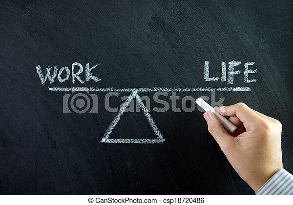 lavoro, vita, equilibrio - csp18720486