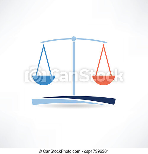 law abstract icon - csp17396381