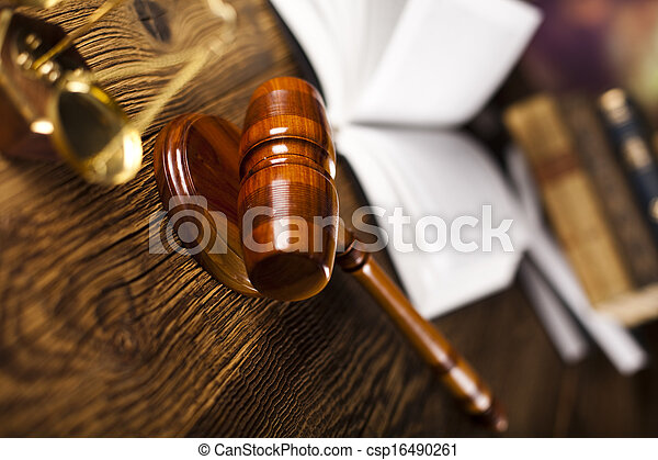 Law and justice concept, legal code - csp16490261