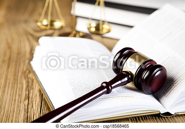 Law and justice concept, legal code - csp18568465