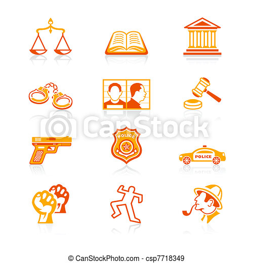 Law and order icons | JUICY series - csp7718349