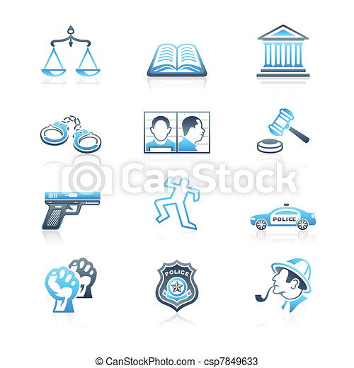 Law and order icons | MARINE series - csp7849633