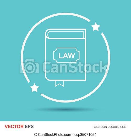 law book doodle - csp35071054