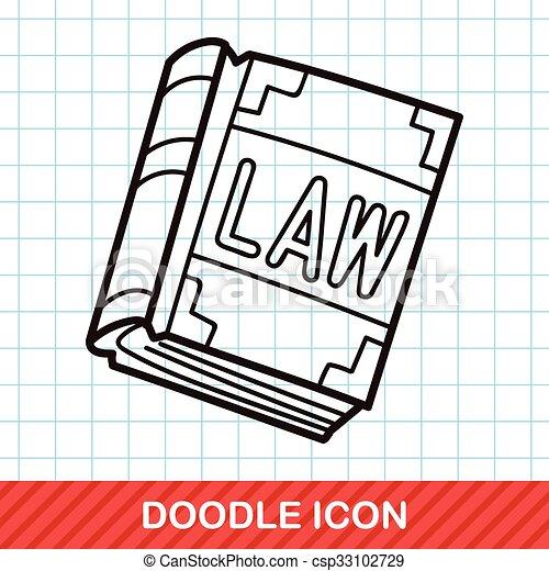 law book doodle - csp33102729