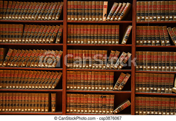 Law book library - csp3876067