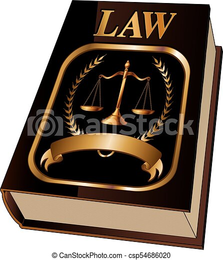 Law Book with Seal - csp54686020