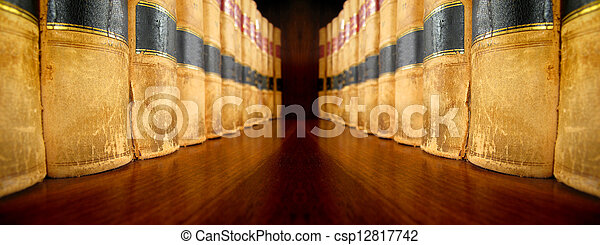 Law Books on Shelf - csp12817742