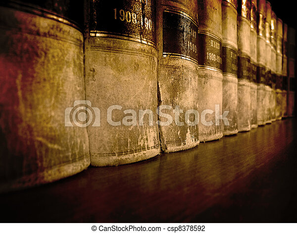 Law Books on Shelf - csp8378592