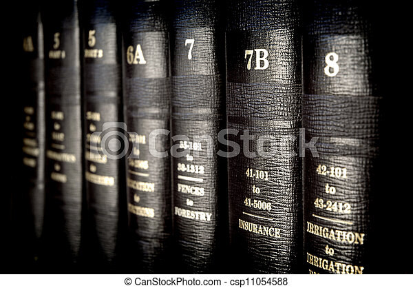Law Books - csp11054588