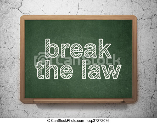 Law concept: Break The Law on chalkboard background - csp37272076