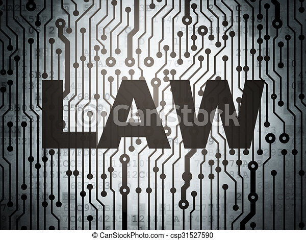 Law concept: circuit board with Law - csp31527590