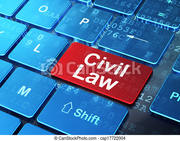 Law concept: Civil Law on computer keyboard background - csp17722004