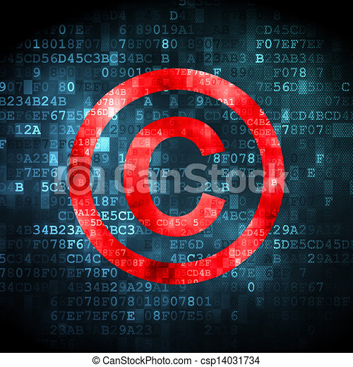 Law concept: Copyright on digital background - csp14031734