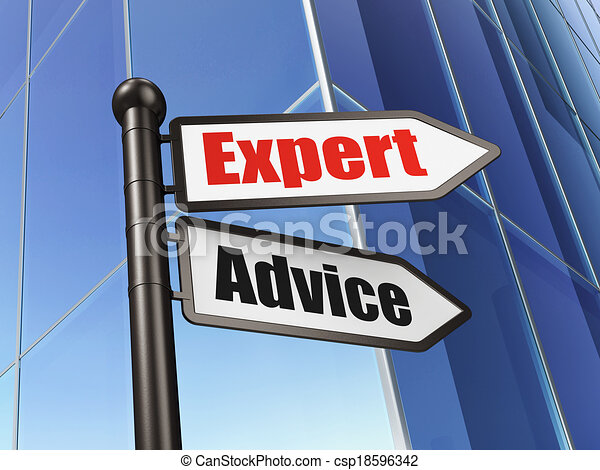 Law concept: sign Expert Advice on Building background - csp18596342