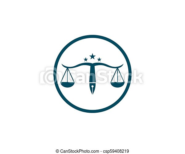 Law firm logo vector template.