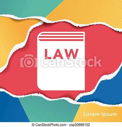 law icon - csp30888102