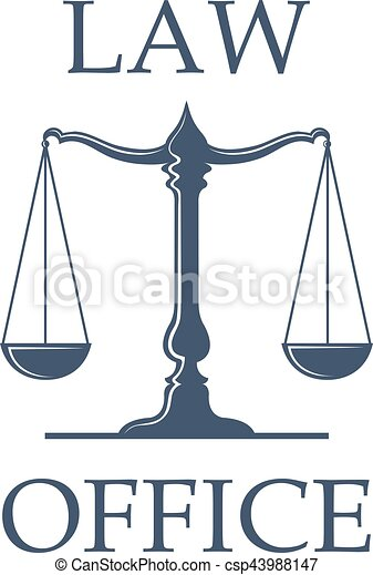 law office vector icon with scales of justice law or eps vector rh canstockphoto com Scales of Justice Drawing Scales of Justice with Gavel