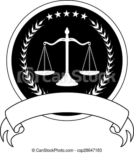 Law or Lawyer Seal With Banner - csp28647183
