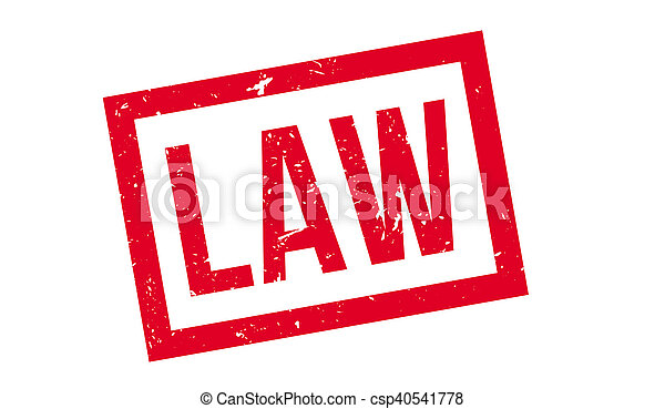 Law rubber stamp - csp40541778