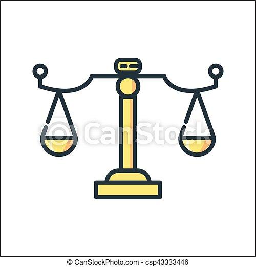 law scale icon color eps vector - search clip art, illustration