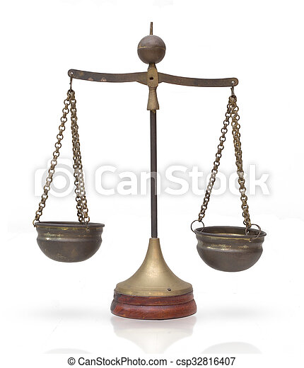 Law scales, Balance Weights : Symbol of justice - csp32816407