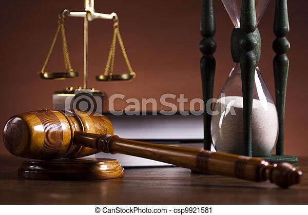 Law theme, mallet of judge! - csp9921581