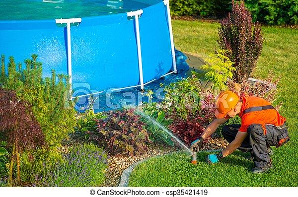 Lawn Garden Technician - csp35421419
