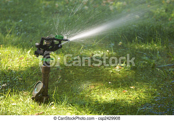 lawn sprinkler - csp2429908