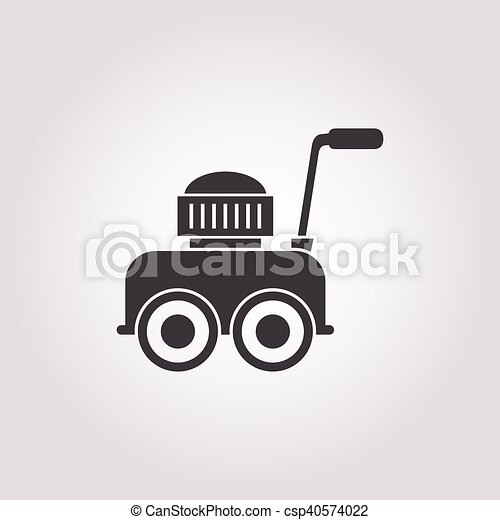 lawnmower icon on white background - csp40574022