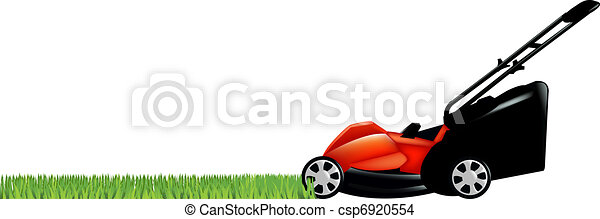 Lawnmower With Green Grass - csp6920554