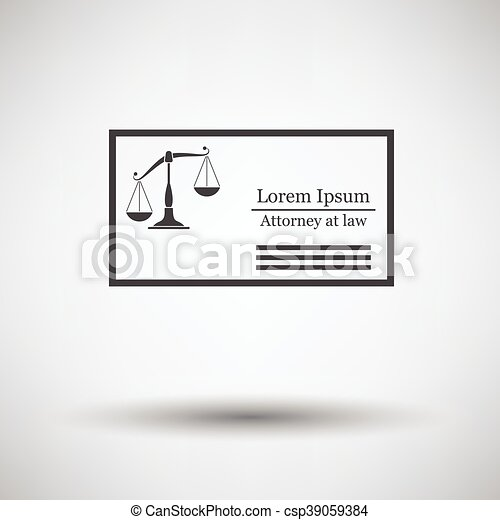 Lawyer business card icon on gray background with round shadow lawyer business card icon on gray background with round shadow vector illustration reheart Gallery