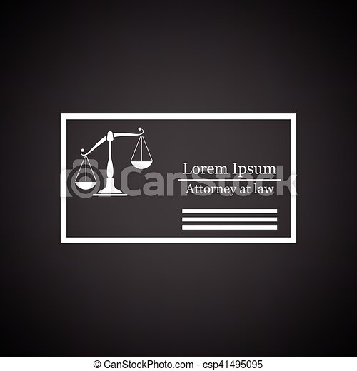 Lawyer business card icon black background with white vector lawyer business card icon black background with white vector illustration reheart Gallery