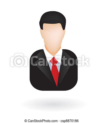 Lawyer businessman avatar - csp8870186