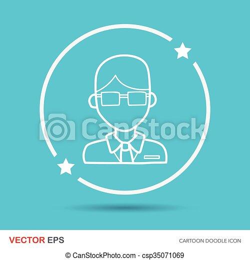 lawyer doodle - csp35071069