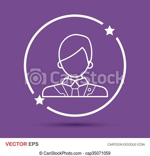lawyer doodle - csp35071059