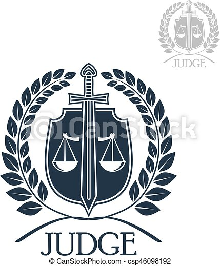 Lawyer Firm Judge And Law Office Symbol Scales Of Justice With