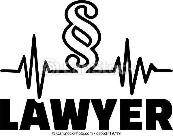 Lawyer heartbeat line with paragraph - csp53719719