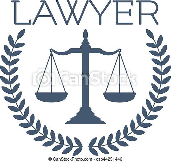 lawyer icon justice scales laurel wreath emblem advocate eps rh canstockphoto com advocate login portal advocacy logos